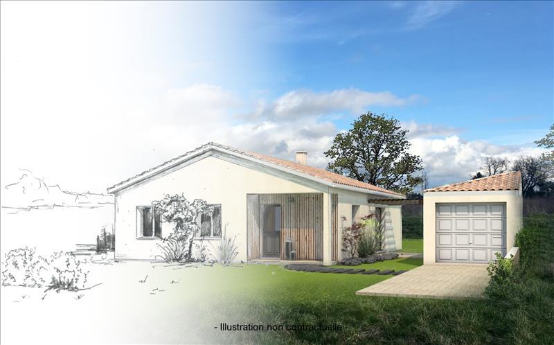 Vente Terrain ARVEYRES (33500) - 500 m² -