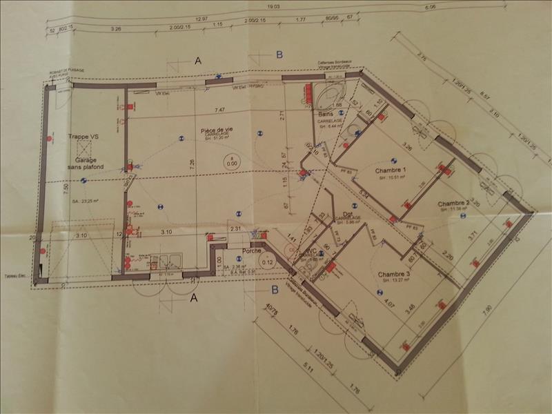 Maison MENSIGNAC - 4 pièces  -   100 m²