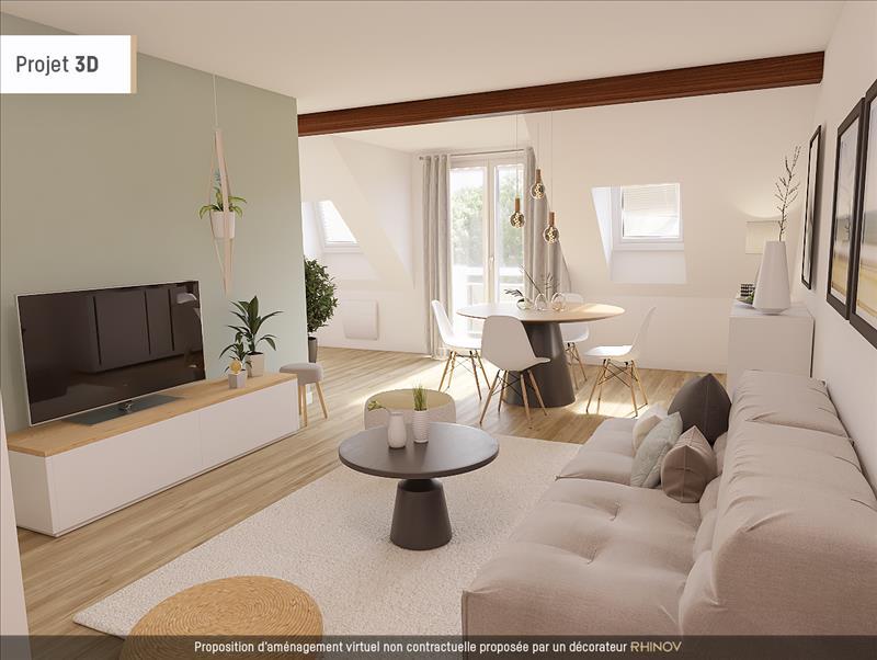 Vente Appartement MANTES LA JOLIE (78200) - 2 pièces - 46 m² - Quartier Gassicourt