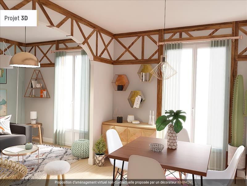 Vente Maison POISSY (78300) - 3 pièces - 50 m² - Quartier Centre-ville