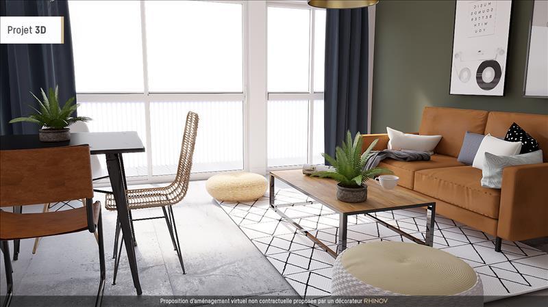 Vente Appartement LES MUREAUX (78130) - 3 pièces - 60 m² - Quartier Centre-ville