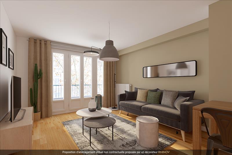 Vente Appartement VILLEURBANNE (69100) - 3 pièces - 69 m² - Quartier Villeurbanne|Grand Clément