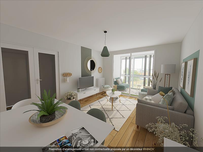Vente Appartement DECINES CHARPIEU (69150) - 3 pièces - 67 m² -