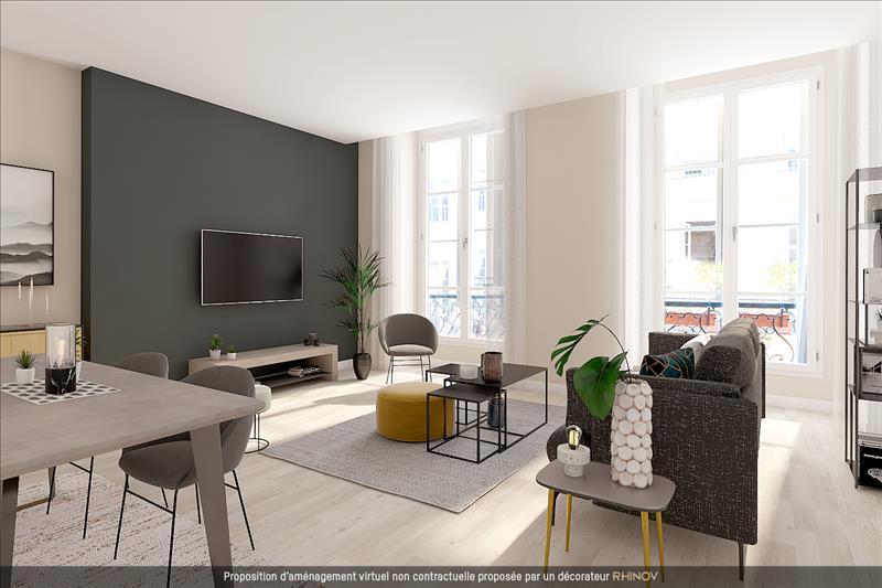 Vente Appartement BORDEAUX (33000) - 2 pièces - 57 m² - Quartier Bordeaux|Tourny - Gambetta - St Pierre