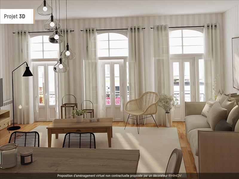 Vente Appartement BORDEAUX (33000) - 4 pièces - 100 m² - Quartier Bordeaux|St Paul - St Michel - Capucins