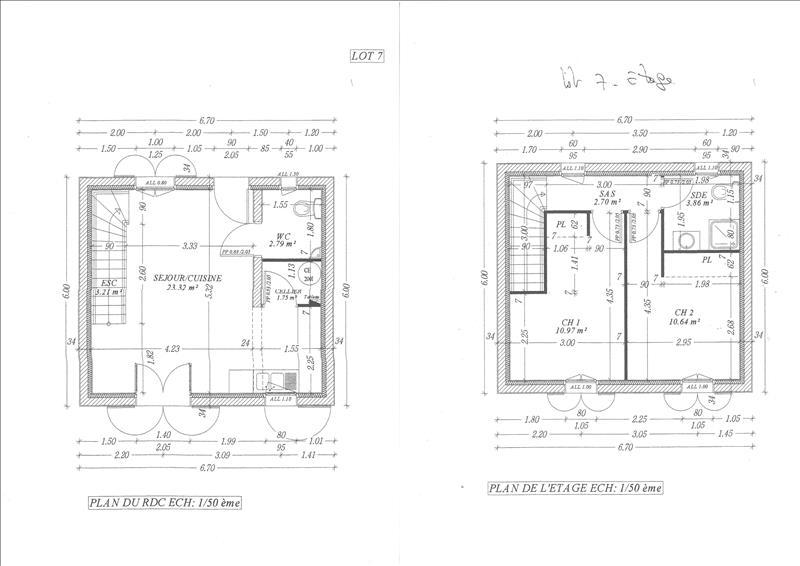 Maison BREUILLET - 3 pièces  -   60 m²