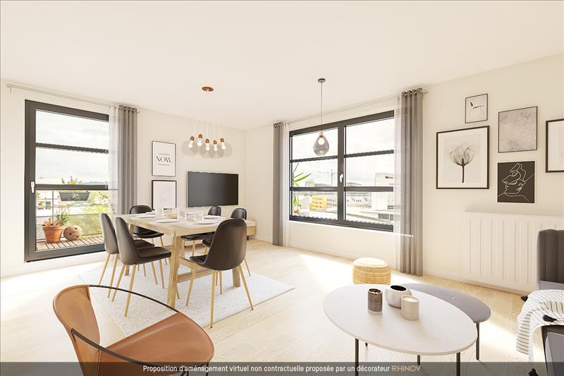 Vente Appartement BORDEAUX (33300) - 4 pièces - 78 m² - Quartier Bordeaux|Bassins à flot - Ravezies - Bacalan