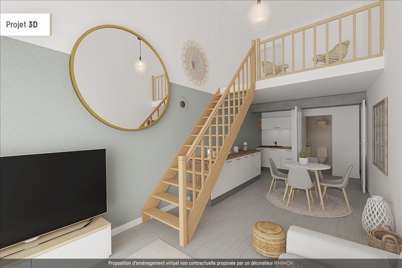 Vente Appartement LA ROCHELLE (17000) - 2 pièces - 40 m² - Quartier La Rochelle |Centre-ville - Porte Royale