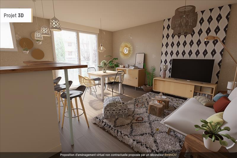 Vente Appartement TOULOUSE (31400) - 3 pièces - 50 m² - Quartier St Michel - St Agne - Le Busca - Rangueil