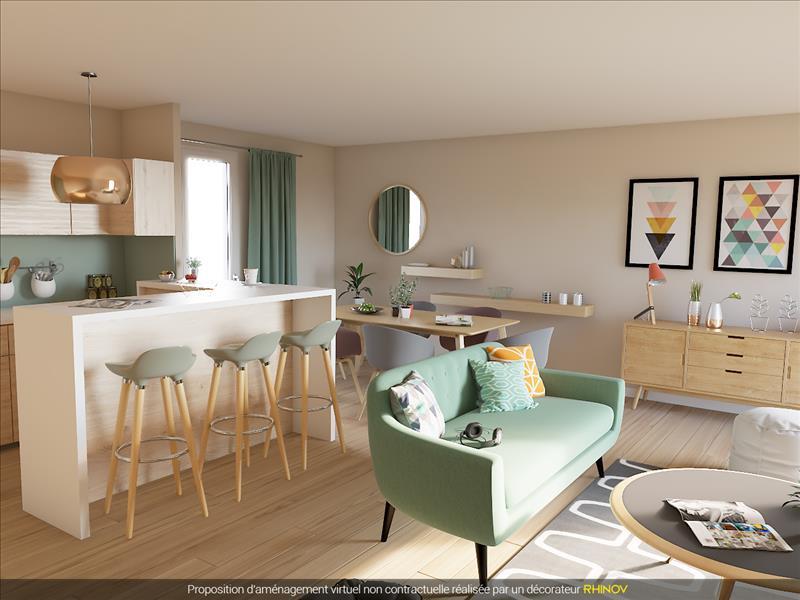 Vente Appartement CERGY (95800) - 3 pièces - 63 m² - Quartier Axe Majeur - Horloge