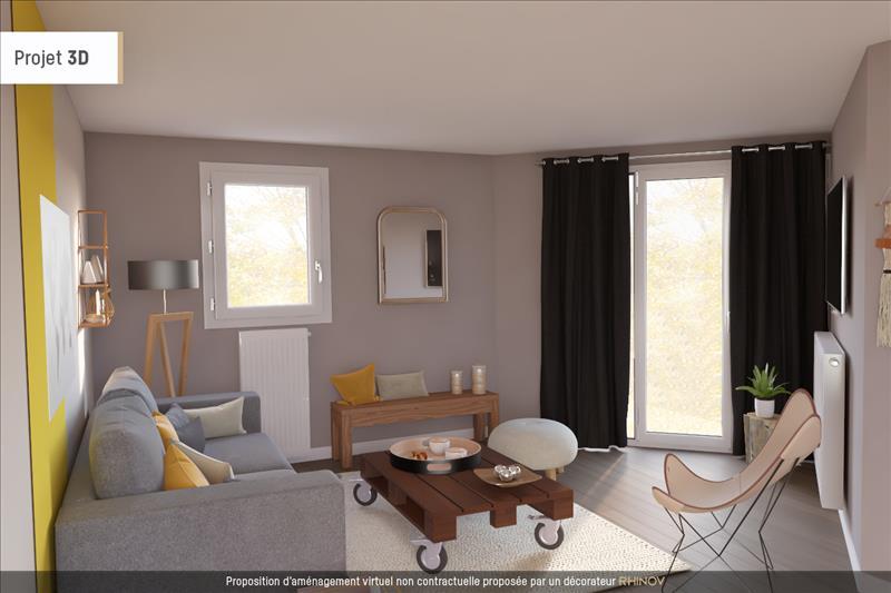 Vente Appartement CERGY (95800) - 2 pièces - 47 m² - Quartier Axe Majeur - Horloge