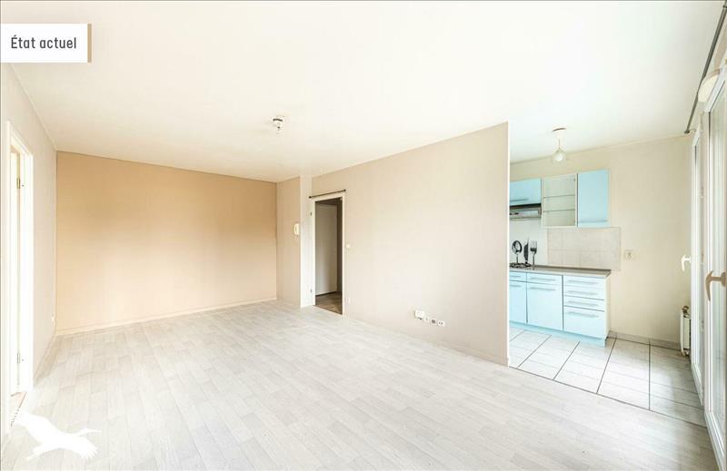 Vente Appartement CERGY (95800) - 2 pièces - 44,49 m² - Quartier Cergy|Les Hauts-de-Cergy