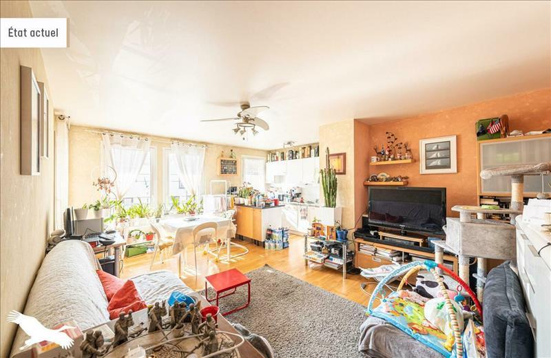 Vente Appartement CERGY (95800) - 3 pièces - 55 m² - Quartier Cergy|Les Hauts-de-Cergy