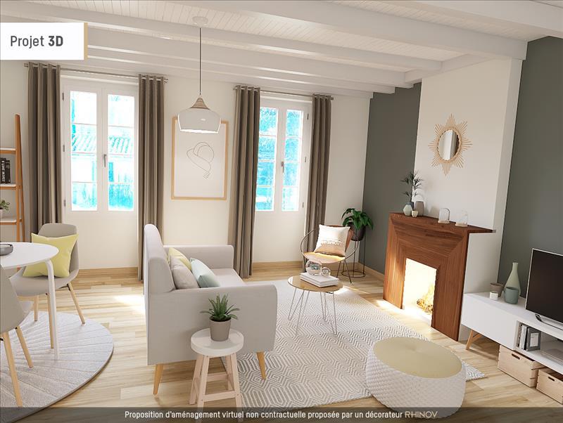 Vente Maison DONNEZAC (33860) - 3 pièces - 104 m² -
