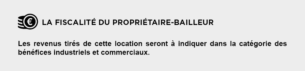 Fiscalite Proprietaire-Bailleur - Location Meublée - Bail Mobilité