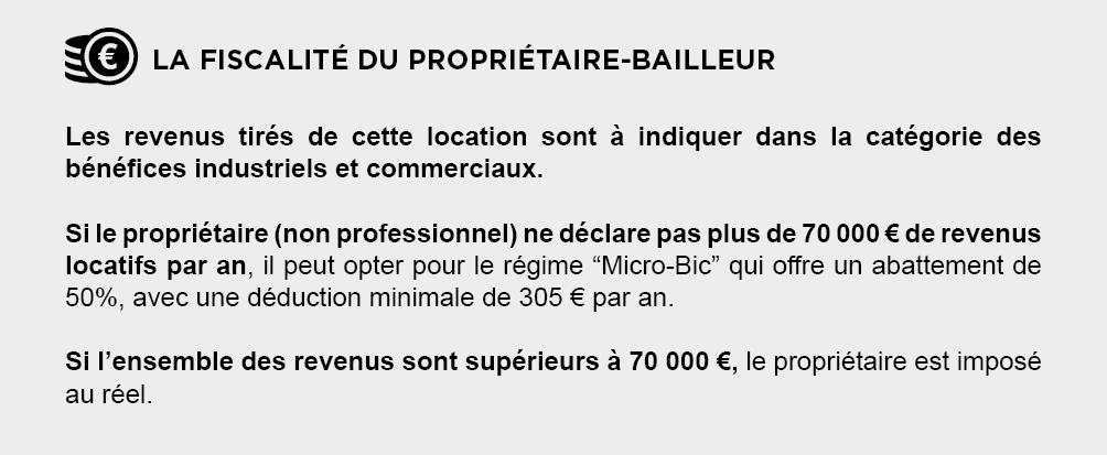 Fiscalite Proprietaire-Bailleur - Location Meublée