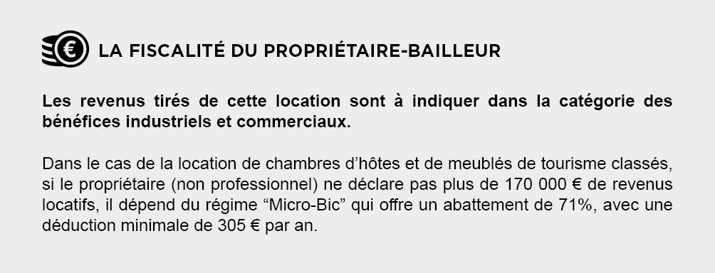 Fiscalite Proprietaire-Bailleur - Location Saisonnière