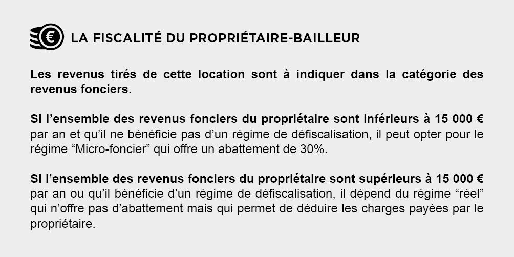 Fiscalite Proprietaire-Bailleur - Location Vide